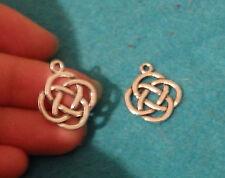 20 celtic knot charms pendant beads tibetan silver antique wholesale craft UK