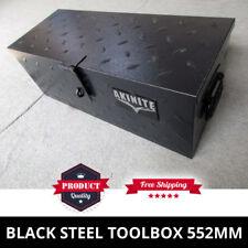 Black Steel Toolbox 552mm Heavy Duty Trademans Ute Tool Box
