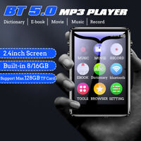 16/8GB bluetooth MP3 Player MP4 Media FM Radio Recorder HIFI Sport Music