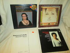 LOT of 4 LP Records, Monterrat Caballe, Wagner,Operatic Heroines,Houston Concert