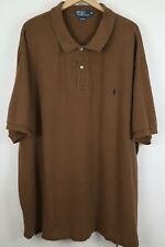 Polo Ralph Lauren Mens sz 5XB Big Brown Mesh Short Sleeve Shirt Black Pony
