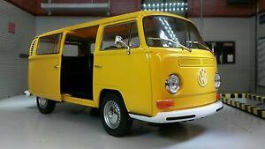 G LGB VW Baie T2 Dormobile Campervan 1972 Welly 1:24 Scale Modèle Moulé Bus Van