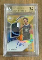 2020 PANINI SPECTRA JA MORANT ROTY ROOKIE PATCH AUTO RPA SP /10 ~ BGS 9.5 + SUBS