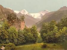 PHOTO INTERLAKEN RUINS UNSPUNNEN BERNESE OBERLAND SWITZERLAND ART PRINT BB9042