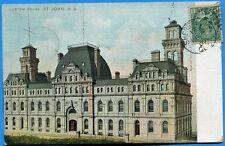 CPA Canada: Custom house - St John - N. B / 1907