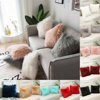 45cm Luxury Shaggy Faux Fur Pillow Cases Fluffy Plush Throw Sofa Cushion Cover