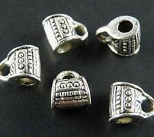 150pcs Tibet Silver Charm Bail Connector Bead 8x6.5x5mm 436