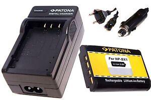 Ladegerät und Akku für  Sony DSC-RX100 IV / NP-BX1
