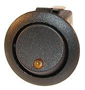 on/off  LED  spot  Iluminated rocker switch -AMBER  12v