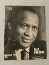 BOOKLET - PAUL ROBESON 1960 AUSTRALIAN TOUR