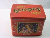 Vintage COCA COLA COLLECTIBLE RED RECIPE TIN, ENJOY COCA....Reproduction