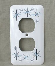 Atomic Starburst - Metal Receptacle Cover - North Star Style Pattern - New - Sm