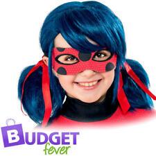 Miraculous Wig Girls Fancy Dress Ladybug Kids Childs Superhero Costume Accessory