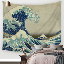 Wave Polyester Wall Hanging Tapestry Hippie Landscape Throw Bedspread Home Decor