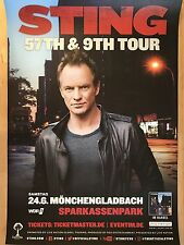 STING  2017 MÖNCHENGLADBACH -- Tour Poster - Concert Poster