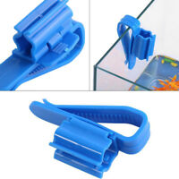 2pcs Aquarium Fish Tank Mount Pipe Filtration Clip Water Tube Hose Holder FT