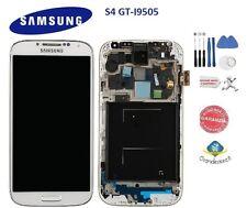 LCD DISPLAY Samsung Galaxy S4 I9505 BIANCO FRAME SCHERMO VETRO MONITOR NUOVO