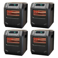 Lifesmart 4-Element Quartz Infrared Electric Large Room Space Heater (4 Pack)