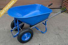 100 L Heavy Duty Double Wheels Wheel Barrow Metal Tray 150KG Loading