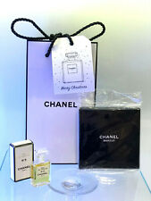 Vintage Chanel No 5 Perfume mini 4ml - Chanel Double Makeup Mirror in Gift Bag