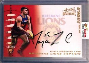2019 SELECT DOMINANCE DAYNE ZORKO BRISBANE LIONS CAPTAINS SIGNATURE CARD