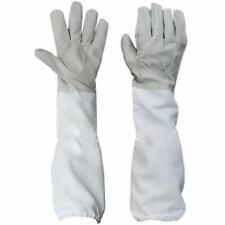 1pair Anti Bee Gloves Thick Sheepskin Beekeeping Equipment White