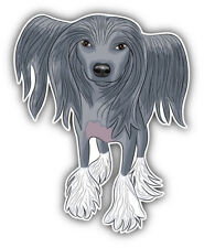 Chinese Crested Dog Car Bumper Sticker Decal - ''Sizes'&# 039;