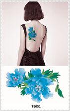 Flower Pattern Tattoo Sticker DIY Keep 3-5 days Waterproof 9x17cm TE051