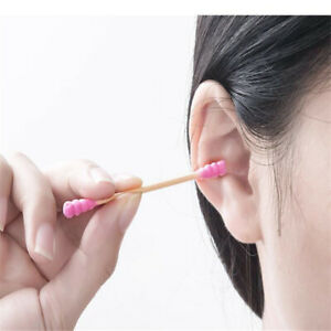 Disposable Nose Ears Eye Cleaning Cotton Swab Bamboo Health Care Double Head SG