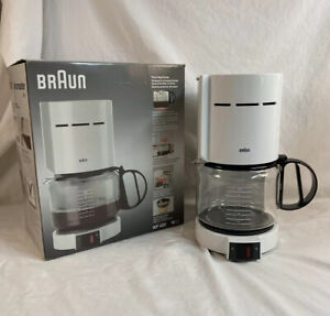 BRAUN AROMASTER 10 Cup Coffee Maker MODEL 4085 White Tested CLEAN