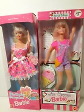 1996 BIRTHDAY SURPRISE Barbie and  HTF 1997 Ice Cream Barbie Special Eds. NRFB