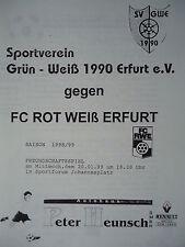 Programm 20.1.1999 Grün Weiß 1990 Erfurt - RW Erfurt