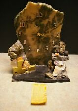 CUSTOM 1987 CANADIAN GEORGE YOUNG POLISHED GOLD ORE FACE MINERAL MANTEL CLOCK