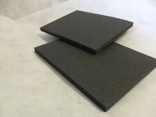Pack of 2 Black Medium density Closed Cell PE foam vibration craft knee pads