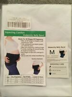 Lot of 2 Maternity Belly Band by Expecting Comfort WHITE..Size Medium