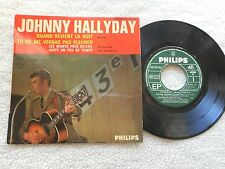 "JOHNNY HALLYDAY ""QUAND REVIENT LA NUIT"" 7"" PICTURE SLEEVE 4 SONG E.P. FRENCH IMP"