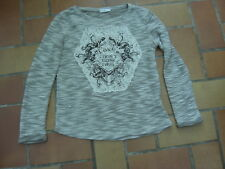 pull gris chiné Cache Cache t. 0 Love I don't think I feel dentelle perles verre