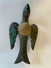 Victorian Antique Brass SEWING BIRD  Pin Cushion 1890's. No Clamp