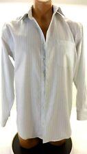 PRONTO UOMO MEN'S BLACK BLUE AND WHITE STRIPED DRESS SHIRT SIZE 15 32-33