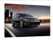VW Golf Gti - 30x20 pulgadas lienzo arte enmarcado cuadro impresión Volkswagen Mk7
