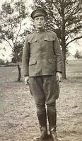 ORIGINAL - WW1 US ARMY 2nd Div. 17th Arty. Reg. SOLDIER ID'd PHOTO POSTCARD RPPC