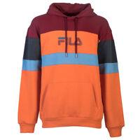 Vêtement Sweats Fila homme Larry Hooded Sweat taille Orange Coton