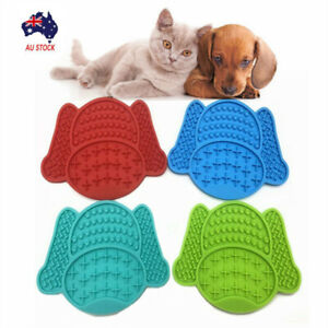 Silicone Pet Licking Mat Portable Dog Lick Pad Cup Bowl Transfer Plate Feeder