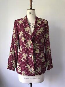 80/'s Italian Cotton and Linen Cardigan Style Jacket Blazer Byblos