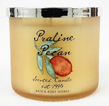 1 Bath Body Works PRALINE PECAN Large 3-Wick Scented Candle 14.5 oz Frosted Glas