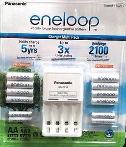 2021 Eneloop Rechargeable Batteries NiMH 8 AA 4 AAA + Battery Charger Recharge