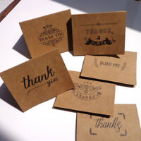 18pcs kraft paper thank you greeting cards envelopes seal stickers party decorS!