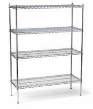 Chrome Wire Shelving Unit Commercial Shelf Storage Racking Heavy Duty New 1200mm