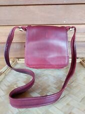 Coach Small Red Leather Flap Front Crossbody Shoulder Bag H 9 Z - 9145