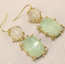 Alexis Bittar Crystal Accent Stone Drop Wire Earring Jewelry